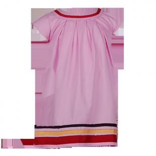 . Платье с полосами на кромке