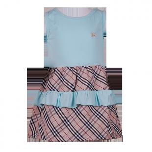 . Платье с рюшами на юбке