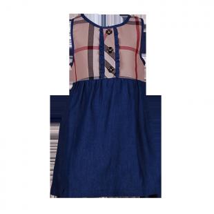 Платье с джинсовой юбкой