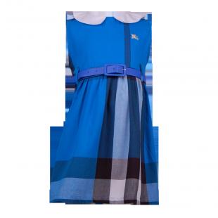 Детское платье в голубую клетку