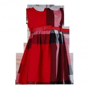 Платье Burberry с белым воротничком