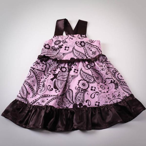 Фото: Платье с бантом на спине. (артикул O 50098-pink)