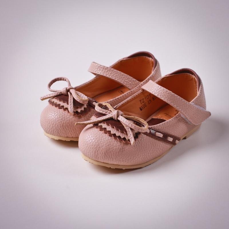 Фото: Туфли с тонким бантиком (артикул Sh 10023-pink)