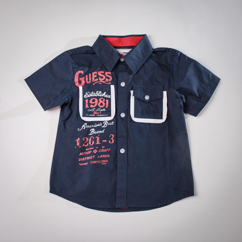Фото: Рубашка с надписями. (артикул Gs 30011-deep blue)