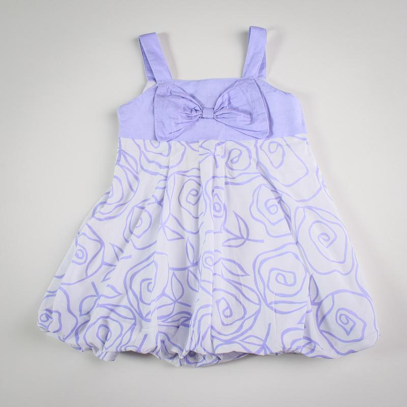 Фото: Платье с бантом на груди (артикул Gs 50023-violet)