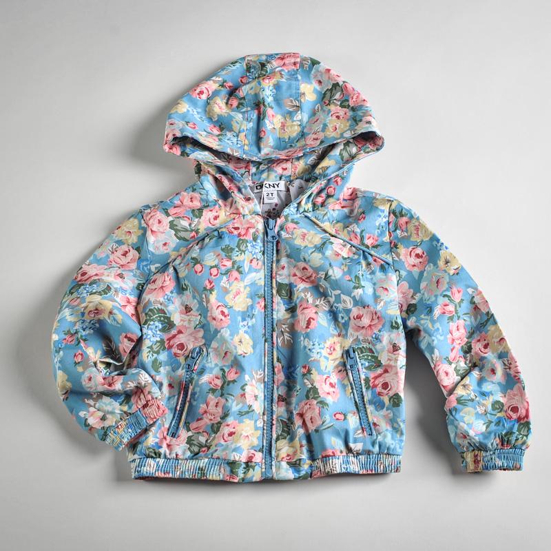 Фото: Куртка с цветочным рисунком (артикул O 10053-blue)