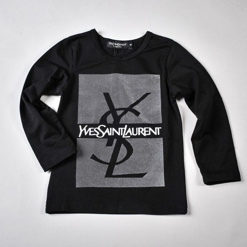 Фото: Yves Saint Laurent*. Кофточка с принтом бренда (артикул O 30055-black)