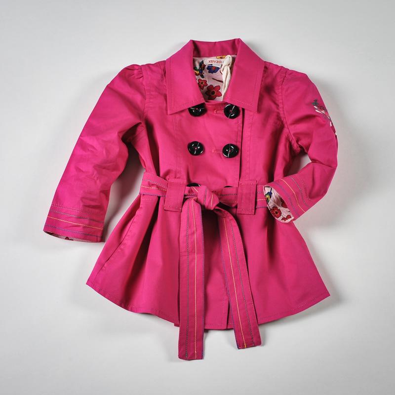 Фото: Красивый розовый плащ для девочки (артикул O 10064-pink)