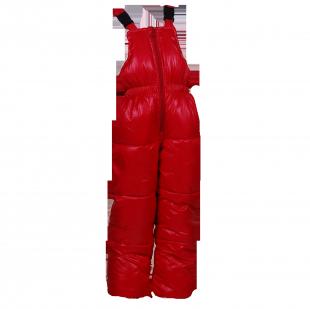 . Комбинезон Burberry красного цвета на пуху