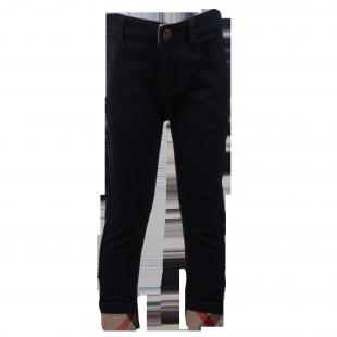 Джинсы чёрные укороченные