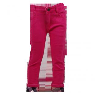 Фото: Джинсы укороченные с подворотами в клетку (артикул B 60004-pink) - изображение 2