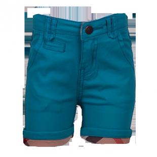 . Котоновые детские шорты с манжетами