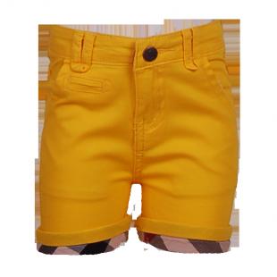 Желтые шортики с клетчатыми манжетами