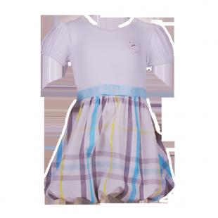 . Детское платье с юбкой в клетку