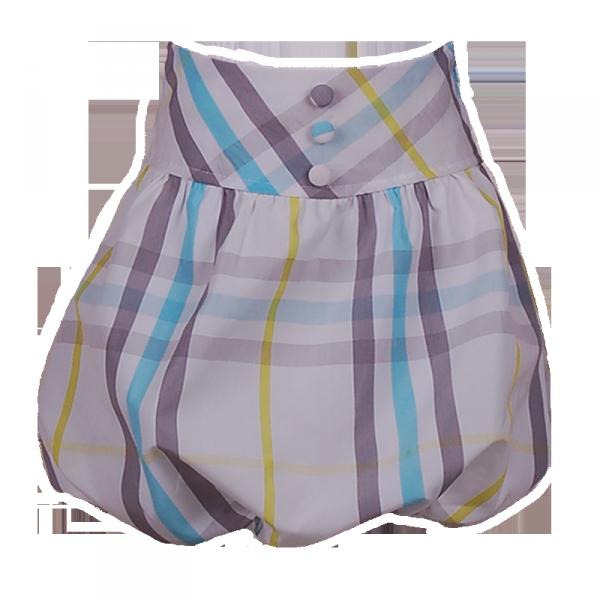 Фото: Юбка в клетку с пуговицами (артикул B 50037-blue stripes)