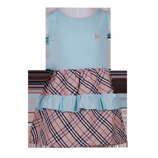 Фото: Платье с рюшами на юбке (артикул B 50041-azure)