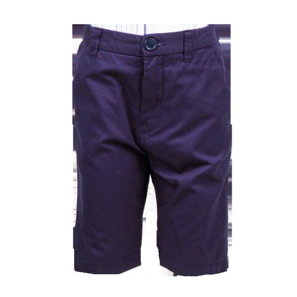 Фото: Темно-синие шорты удлиненные до колен (артикул O 60077-deep blue)