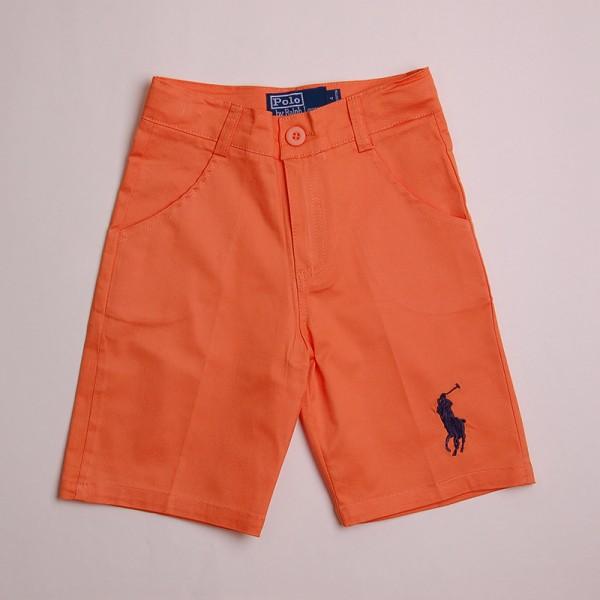Фото: Ярко оранжевые детские шорты с лого POLO (артикул Rl 60010-orange)