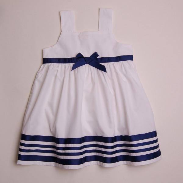 Фото: Платье с полосами на кромке (артикул O 50201-white)