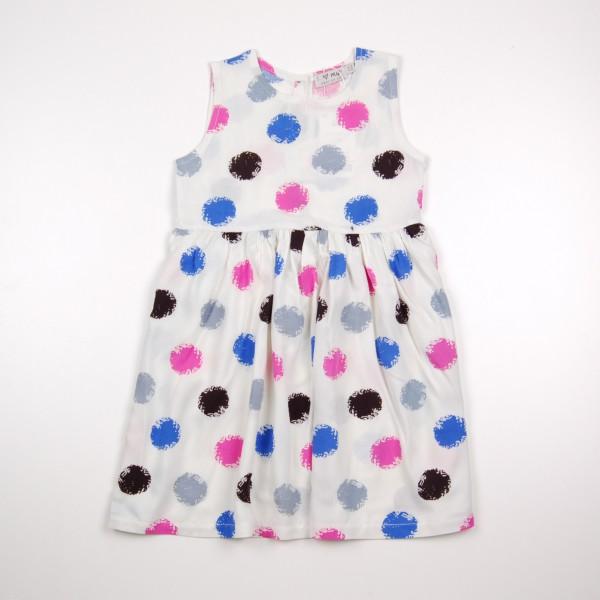 Фото: Платье в яркий горошек (артикул O 50282-colored)