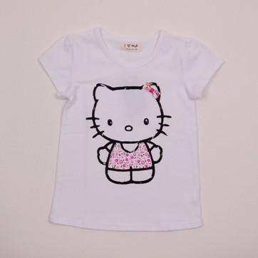 Фото: Футболкас принтом Hello Kitty белая (артикул O 40062-white)