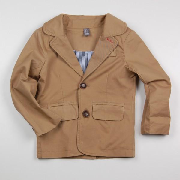 Фото: Классический пиджак бежевого цвета мальчику (артикул Z 10119-beige)
