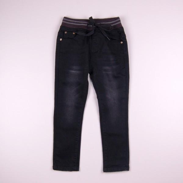 Фото: Тёмные джинсы с потёртостями (артикул Z 60241-black)