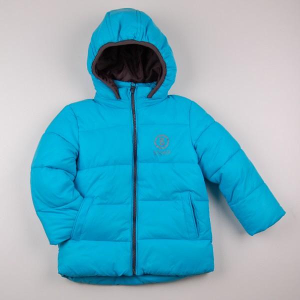 Фото: Стеганая куртка с капюшоном (артикул O 10221-azure)