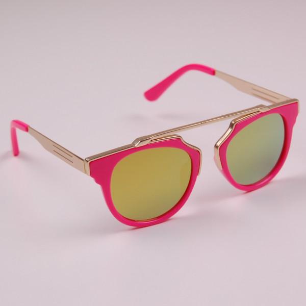 Фото: Яркие летние очки с желтыми стеклами (артикул A 50050-pink)