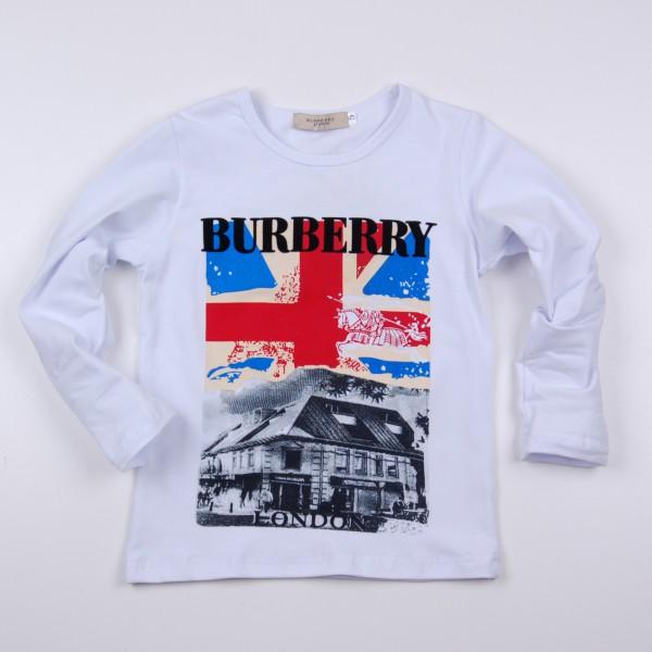 Фото: Кофточка  с большим флагом Великобритании (артикул В 30058-white)