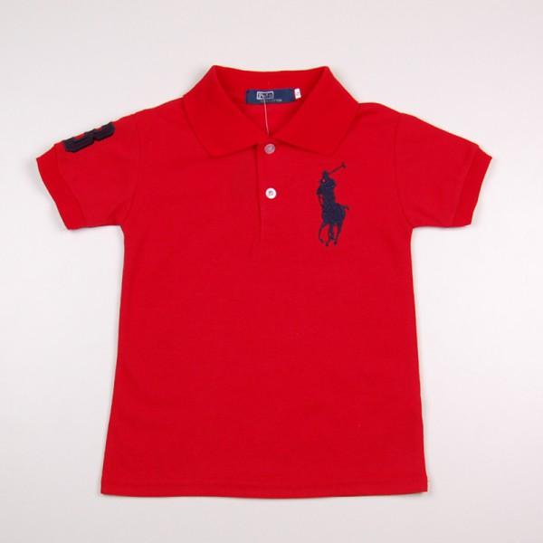 Фото: Детская футболка поло красного цвета (артикул RL 40001-red)