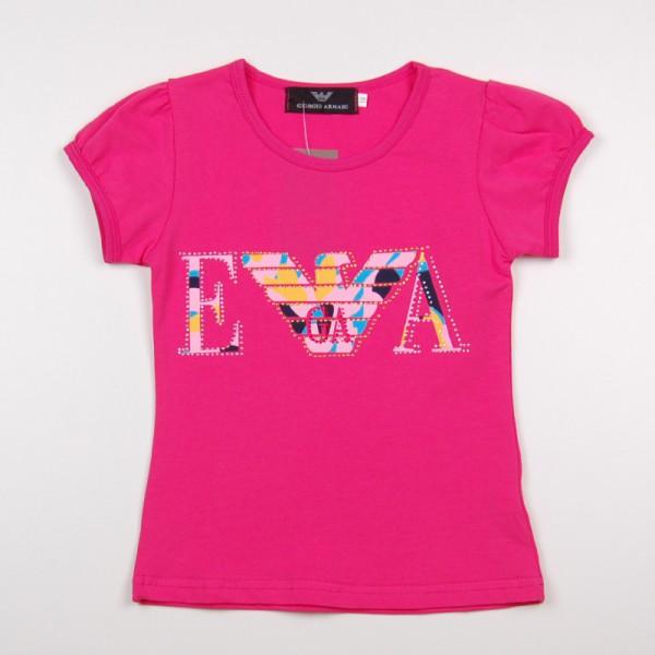 Фото: Розовая футболка для маленьких девочек (артикул O 40099-pink)