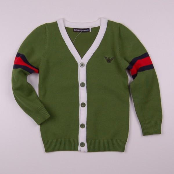 Фото: Кофта на пуговицах Armani  зеленого цвета (артикул O 20133-green)