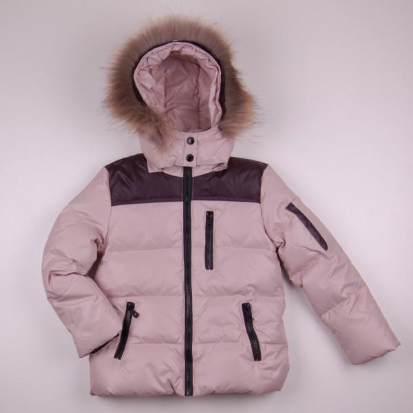Фото: Зимняя куртка бежевого цвета (артикул O 10267-beige)