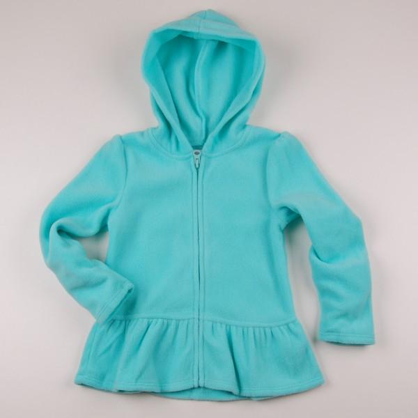 Фото: Толстовка для девочки бирюзового цвета (артикул O 20122-azure)