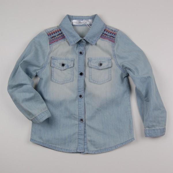 Фото: Джинсовая рубашка с вышивкой (артикул O 30147-jeans)