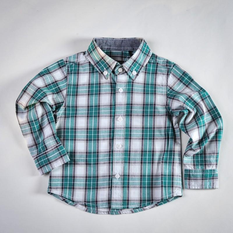 Фото: IKKS. Рубашка в клетку (артикул O 30068-square)