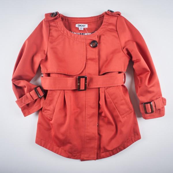 Фото: Плащ с погонами и поясом оранжевого цвета (артикул O 10136-orange)