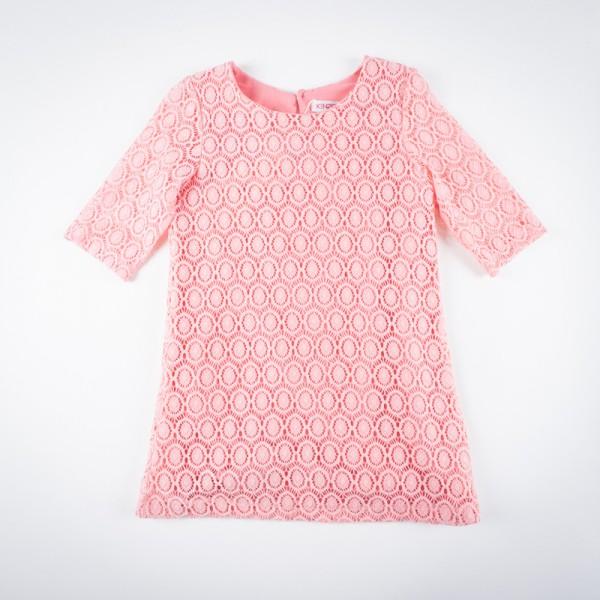 Фото: Платье с ажурной вязкой (артикул O 50193-apricot)