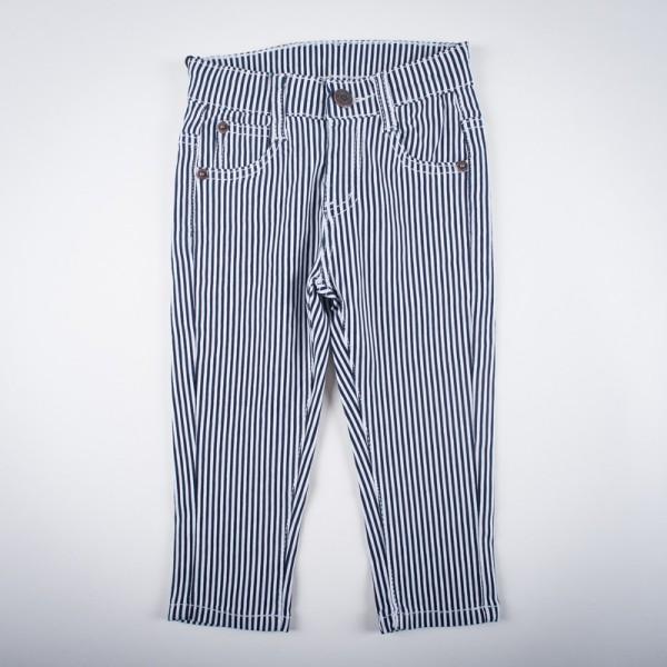 Фото: Стрейчевые полосатые штанишки (артикул Z 60143-black)