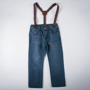 Фото: Джинсы с подтяжками (артикул Z 60146-jeans) - изображение 3