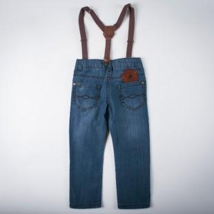Фото: Джинсы с подтяжками (артикул Z 60146-jeans) - изображение 4