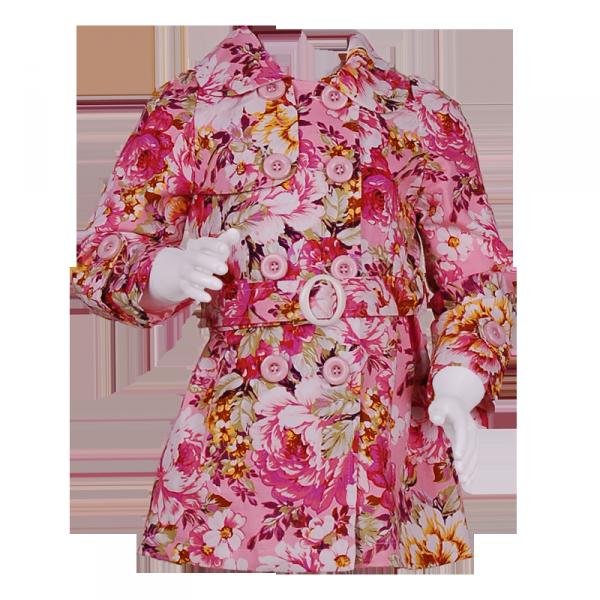 Фото: Плащ с цветочным рисунком (артикул Gp 10006-flowers)