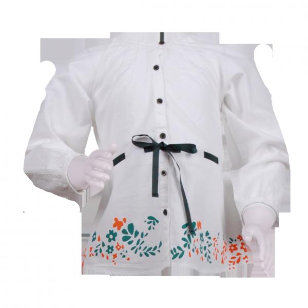 Фото: Туника с цветочным рисунком (артикул O 30130-white)