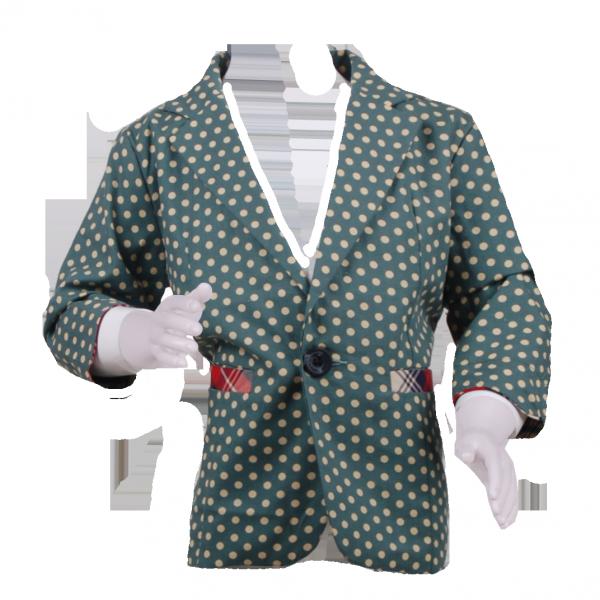 Фото: Стильный пиджак с цветными вставками (артикул O 10052-green)