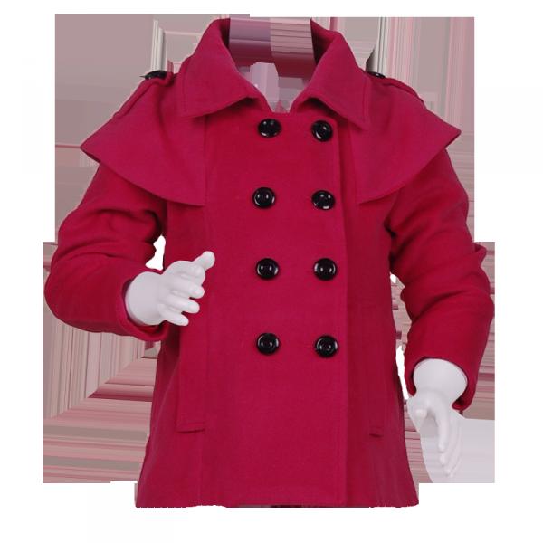 Фото: Красное пальто с накидкой на плечах (артикул O 10104-red)