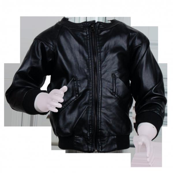 Фото: Куртка кожаная с латками на локтях (артикул O 10105-black)