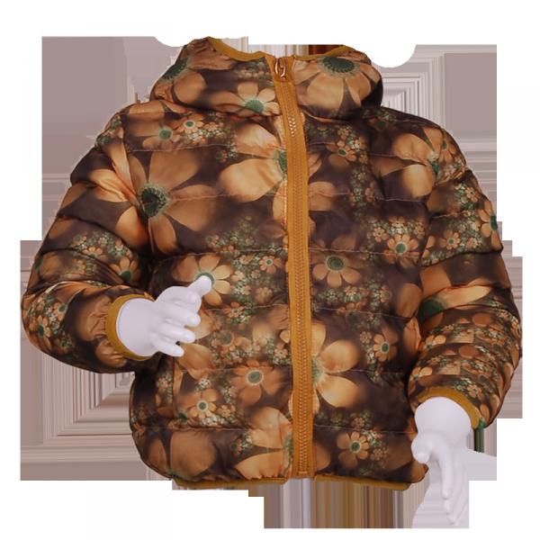Фото: Куртка с цветочным принтом (артикул O 10131-yellow)