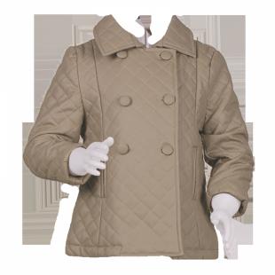 Стильное детское стёганное пальто