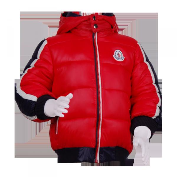 Фото: Синтипоновая зимняя куртка с капюшоном (артикул O 10179-red)